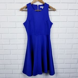 Milly Blue Sleeveless Fit & Flare Cocktail Dress